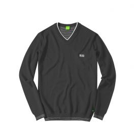 Hugo Boss Sweter V-NECK Grey