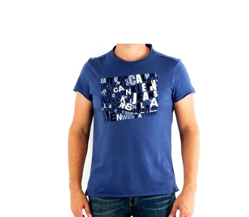 CALVIN KLEIN Tričko cmp57p 721 Blue Fonce