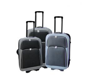 Linder Exclusiv Zestaw walizek EVA 2 MC3056 S,M,L Grey