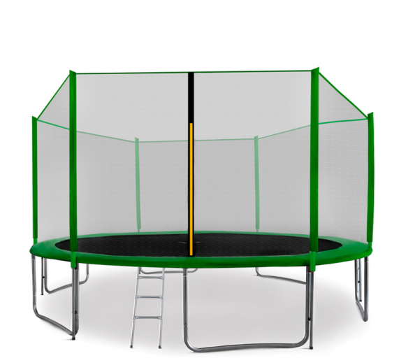 Aga SPORT PRO 400 cm trambulin dark Green + létra + cipőzsák