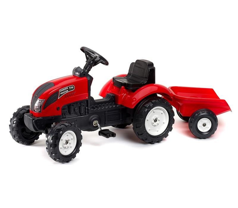 Falk Šlapací traktor GARDEN MASTER Red 2058J s vlečkou
