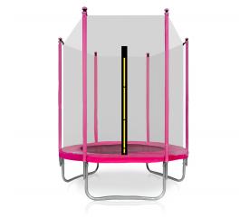 Aga SPORT TOP Trampolina ogrodowa 150 cm 5ft z siatką zewnętrzną - Pink