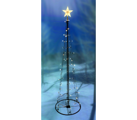 Linder Exclusiv Světelný vánoční stromeček 154 LED 240 cm s 8 funkcemi