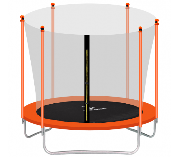 Aga SPORT FIT Trampolína 305 cm Orange + vnútorná ochranná sieť + schodíky
