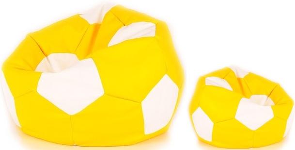 Aga Sedací vak BALL Farba: Žltá - Biela