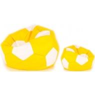 Aga Sedací vak BALL Farba: Biela - Žltá