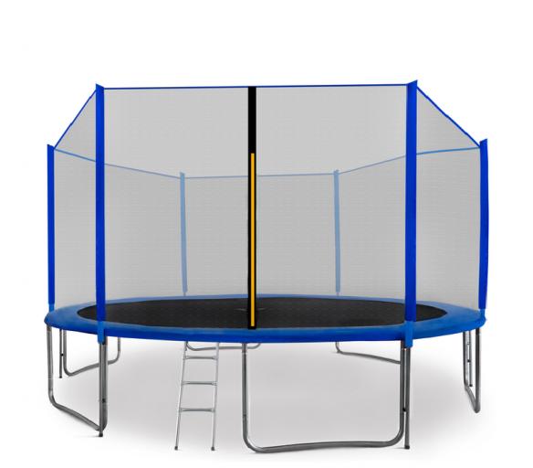 Aga SPORT PRO Trampolína 430 cm Blue + ochranná sieť + schodíky + vrecko na obuv