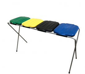 Aga Stojan na odpadkové pytle 4x120 l Žlutý, Modrý, Zelený, Černý