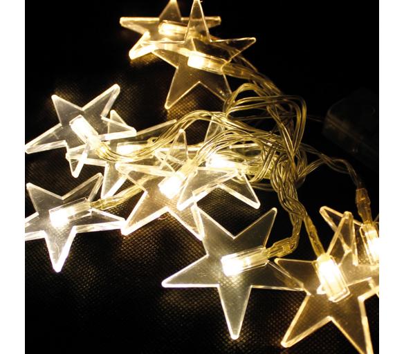 Linder Exclusiv Světelný řetěz 48 LED Hvězdy Teplá bílá