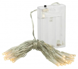 Linder Exclusiv Řetěz na baterie 30 LED Teplá bílá