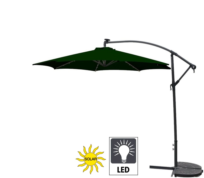 Linder Exclusiv Zahradní slunečník konzolový MC2005LED 300 cm Green