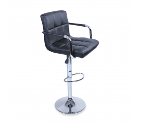 Tresko Barová stolička s opierkami BH012 Black