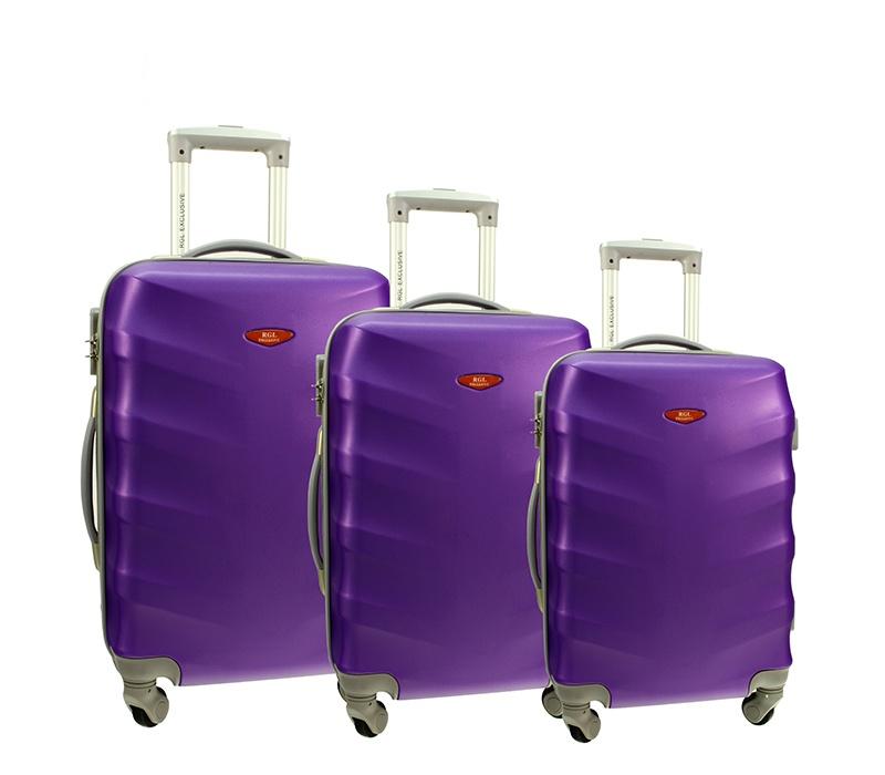 RGL Cestovní kufry HC6881 XXL,XL,L Barva: Violet