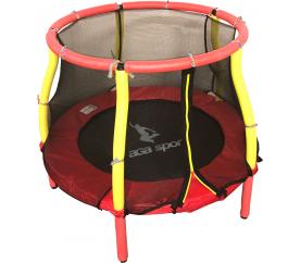 Aga Dětská trampolína 116 cm Red/Yellow + ochranná sieť