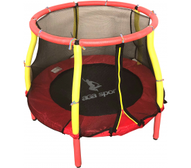 Aga Dětská trampolína 116 cm Red/Yellow + ochranná síť