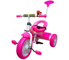 R-Sport Dětská tříkolka T5 s vodící tyčí Růžová