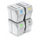 Aga Odpadkové koše SORTIBOX 4x20l Bílé