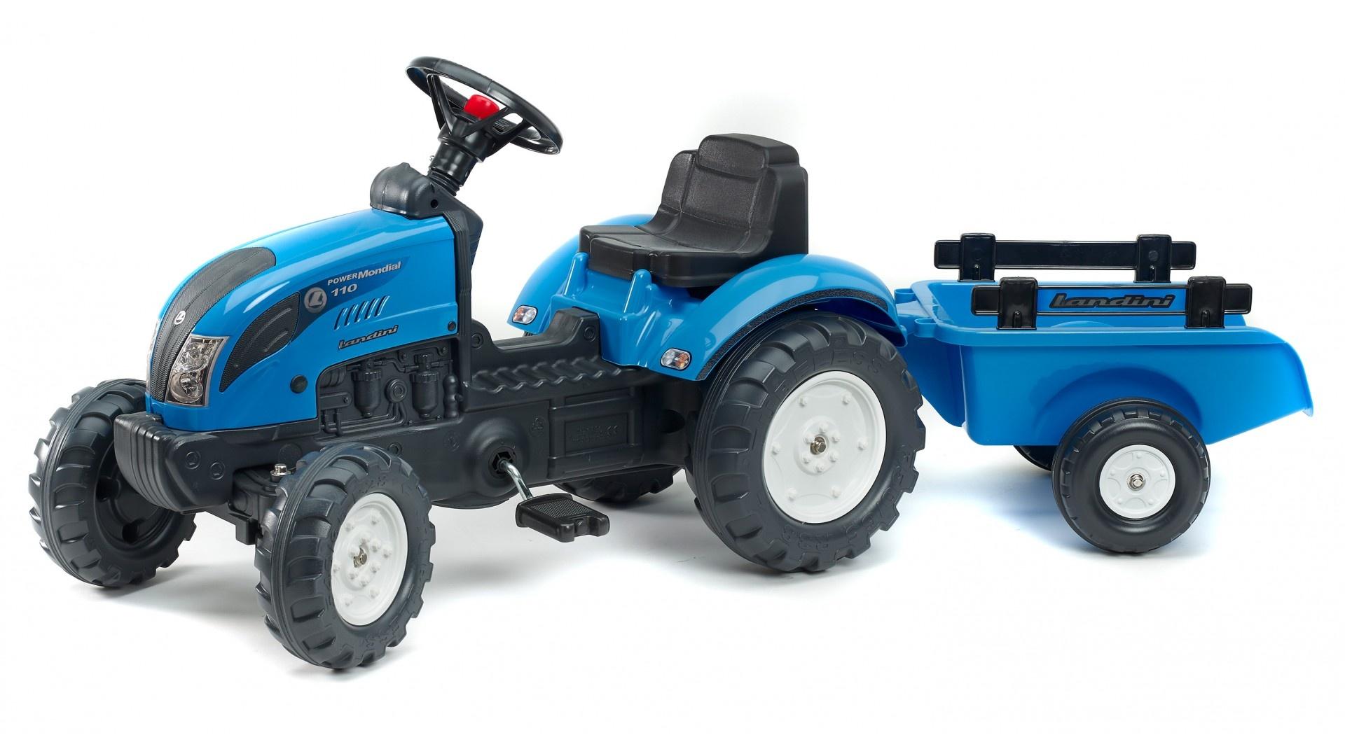 Falk Šlapací traktor LANDINI POWERMONDIAL 110 2050C + vlečka