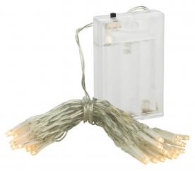 Linder Exclusiv karácsonyi lánc elemre 50 LED meleg fehér