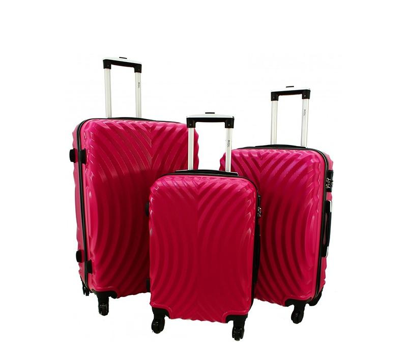 RGL Cestovní kufry HC760 XXL,XL,L Barva: Pink