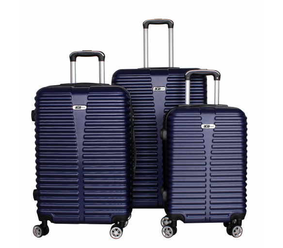 Aga Travel Set kufrů MC3077 S,M,L Blue