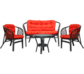 Aga Rattan szett BAHAMA Black Red