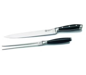 Laguiole Sada nože 37cm a vidličky 31,5cm z oceli Cromova 18