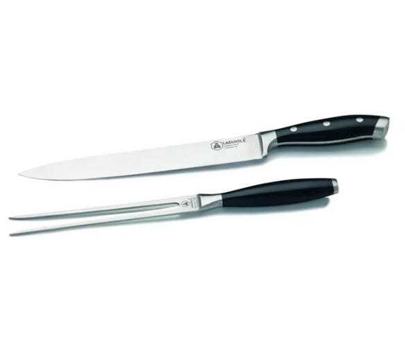 Sada nože (37cm) a vidličky (31,5cm) z oceli Cromova 18 - Laguiole - Laguiole