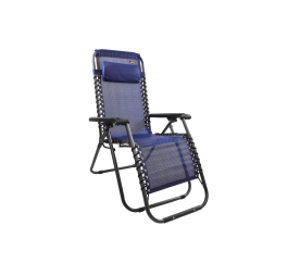 Linder Exclusiv Krzesło leżak ogrodowy AERO GRT Blue-Black