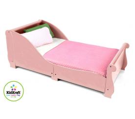 KidKraft Łóżeczka dziecięce SLEIGH Pink 160x75 cm