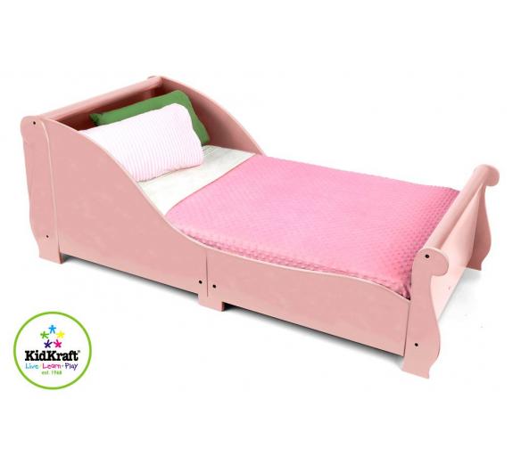 KidKraft Dětská postel SLEIGH Pink 160x75 cm