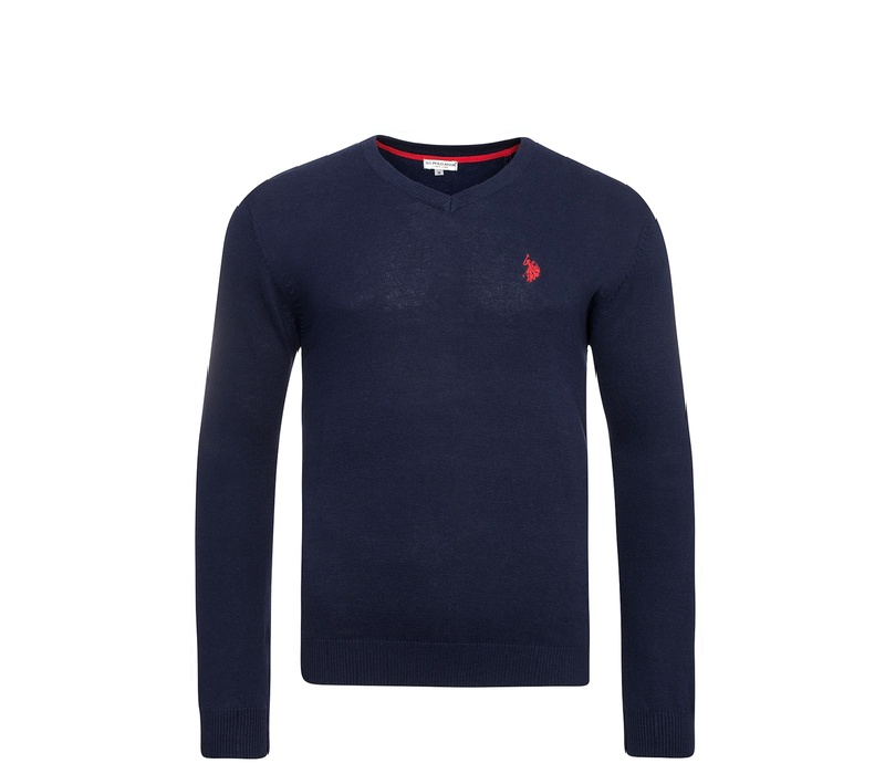 U.S. Polo ASSN. Svetr V-Neck Navy
