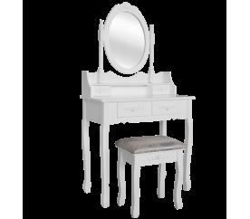 Chomik Toaletný stolík so zrkadlom + taburetom