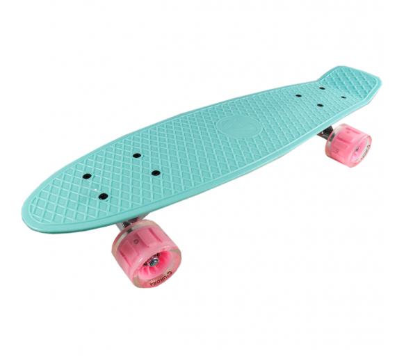 Aurora Pennyboard Green - Pink
