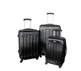 Linder Exclusiv Zestaw walizek LUXURY MC3003 S,M,L Black