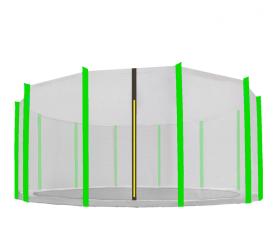 Aga védőháló 488 cm trambulinra 12 rudas Black net / Light Green