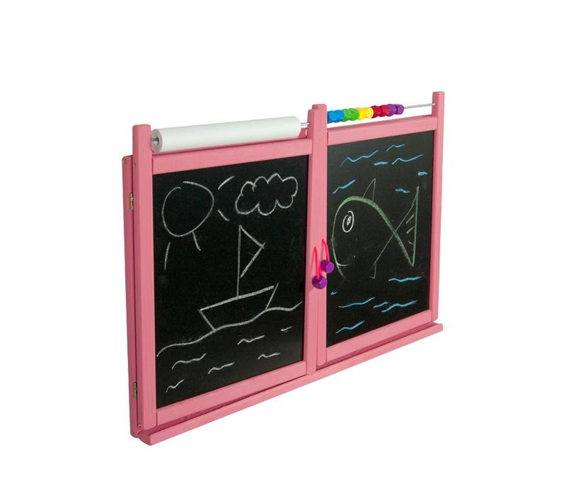 Aga4Kids Detská tabuľa WINDOW PINK TS2