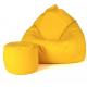 Aga Sedací vak XXXL + podnožník Žltý