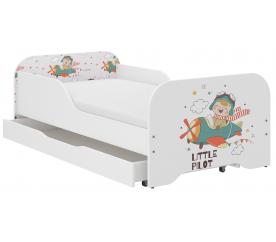Wooden Toys Dziecięce łóżko Little Pilot 140x70 cm