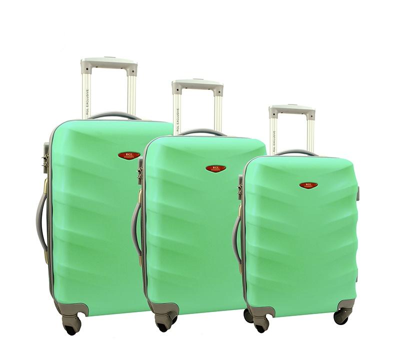 RGL Cestovní kufry HC6881 XXL,XL,L Barva: Mint