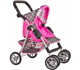 Doris Sportovní kočárek pro panenky 9352 Grey/Pink