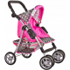 Doris Sportbabakocsi játékbabáknak 9352 Grey/Pink