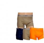 Emporio Armani 3-PACK Orange Khaki Navy boxeralsó