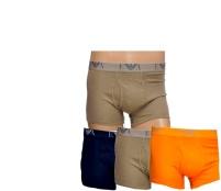 Emporio Armani Boxerky 3-PACK Orange Khaki Navy
