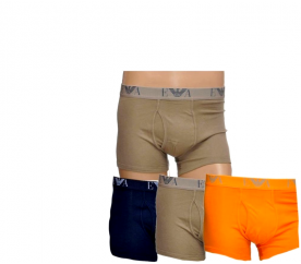 Emporio Armani Boxerky 3-PACK Orange, Khaki, Navy