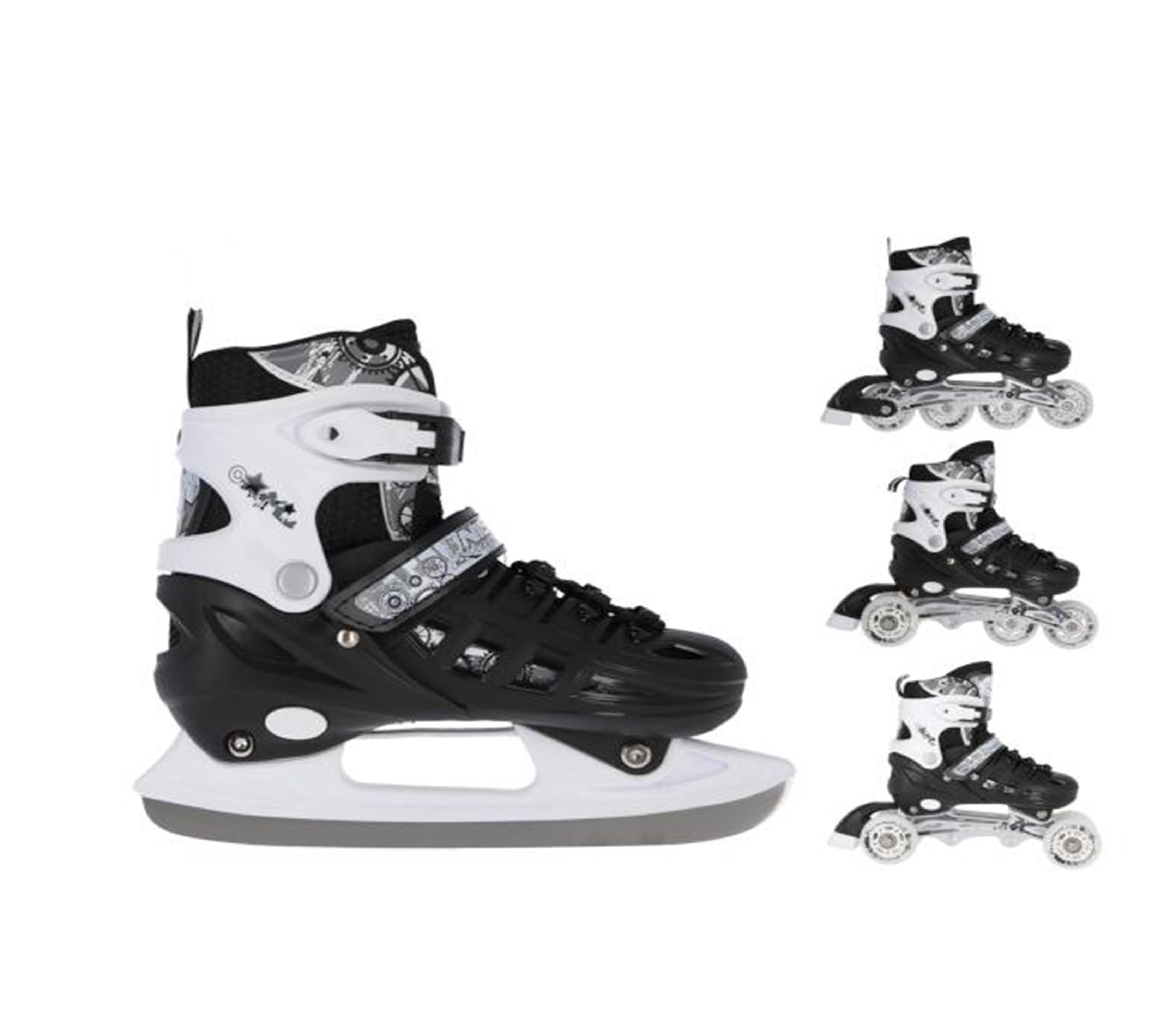Nils Extreme Detské korčule 4v1 NH10905 Black
