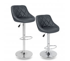 Tresko 2x Barová židle Grey