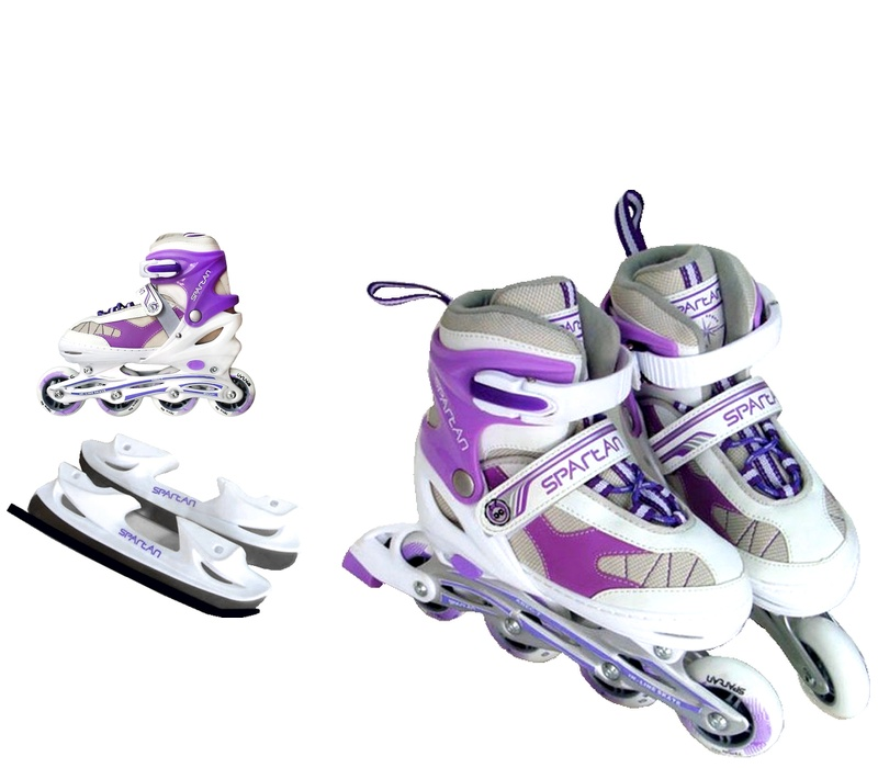 Spartan Zimné korčule 2v1 KOMBI 274 Purple