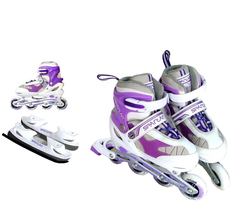 Spartan Dětské brusle 2v1 KOMBI 274 Purple