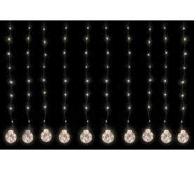 Linder Exclusiv Vánoční světelný závěs koule 200 LED Teplá bílá